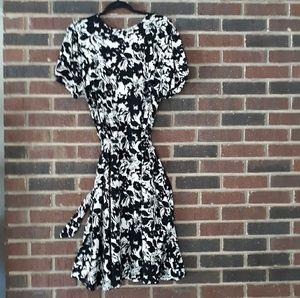 Apt 9 Woman Black & Cream White Midi Dress
